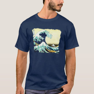 T-shirt La grande vague outre de Kanagawa (神奈川沖浪裏)
