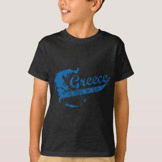 T-shirt La Grèce est le mot
