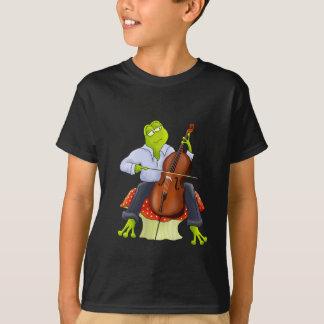 T-shirt La grenouille joue le violoncelle