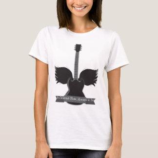 T-shirt La guitare s'envole le raglan de dames - customisé