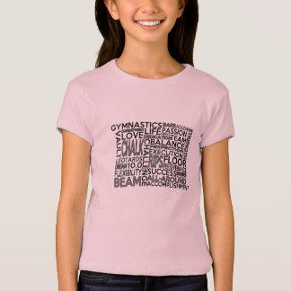 T-shirt La gymnastique badine la pièce en t de bloc de mot