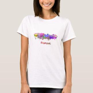 T-shirt La Havane skyline in watercolor