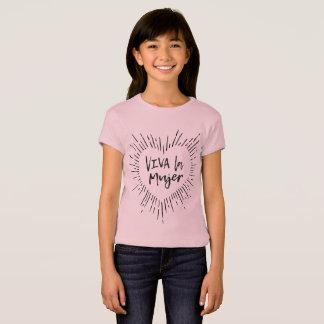 T-shirt La La Mujer de vivats badine la pièce en t