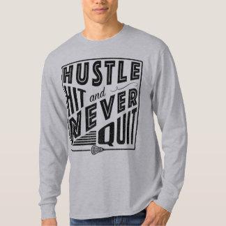 T-shirt La lacrosse, hâte frappée n'a jamais stoppé la