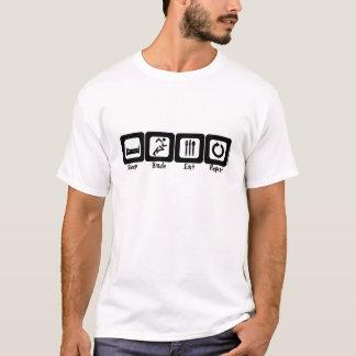 T-shirt La lame de sommeil mangent la répétition