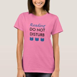 T-shirt La lecture ne dérangent pas