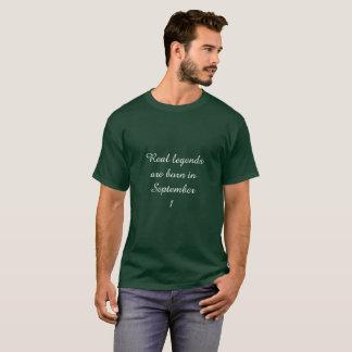 T-shirt La légende sont née dans le 1er septembre