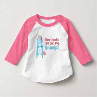 T-shirt La licorne rose et bleue impertinente vous avertit
