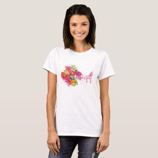 T-shirt La licorne rose passe le beau vent