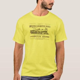 T-shirt La locomotive à vapeur de ruisseaux fonctionne