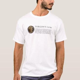 T-shirt La loi de Sargon - lumière