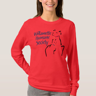 T-shirt La longue douille des femmes (aucun décalque