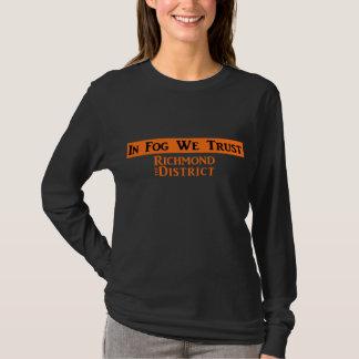 T-shirt La longue douille des femmes - noir