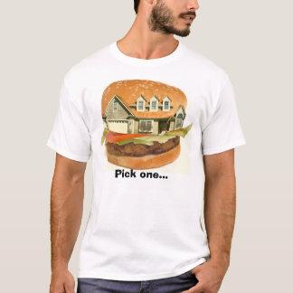 T-shirt La maison d'hamburger, sélectionnent un…