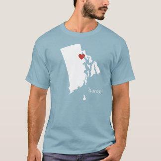 T-shirt La maison est où le coeur est - Île de Rhode