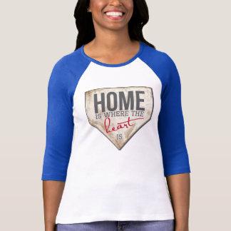 T-shirt La maison est où le coeur est - le base-ball T