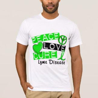 T-shirt La maladie de Lyme de traitement d'amour de paix