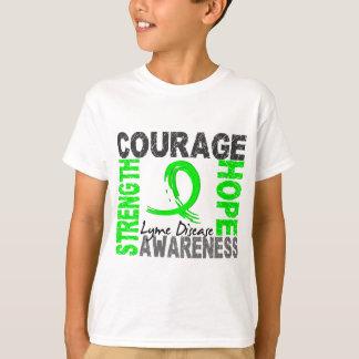 T-shirt La maladie de Lyme d'espoir de courage de force