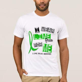 T-shirt La maladie de Lyme je porte le vert de chaux pour