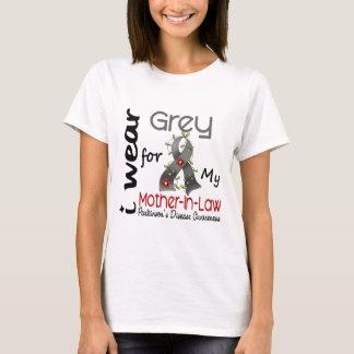 T-shirt La maladie de Parkinson je porte le gris pour ma