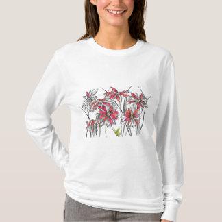 T-shirt La marguerite peinte fleurit le dessin botanique