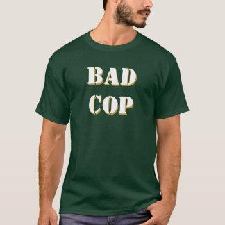 T-shirt La mauvais police, avant et dos de pochoir de