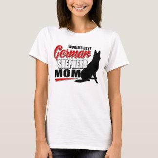 T-shirt La meilleure maman du berger allemand du monde