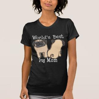 T-shirt La meilleure maman du carlin du monde