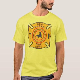 T-shirt La mer gare le corps de sapeurs-pompiers