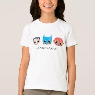 T-shirt La mini ligue de justice dirige le croquis