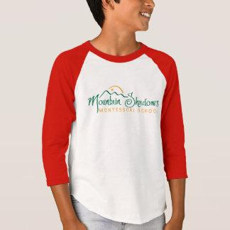 T-shirt La montagne ombrage la pièce en t du base-ball des