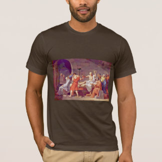T-shirt La mort de Socrates par David Jacques-Louis
