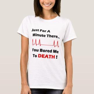 T-shirt La mort ennuyée pleine
