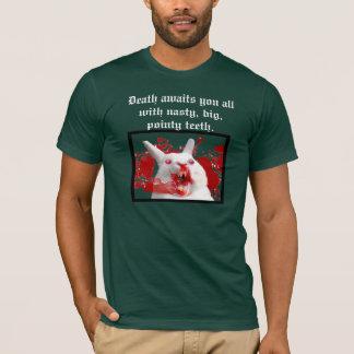 T-shirt La mort vous attend avec de grandes, pointues