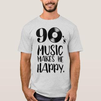 T-shirt la musique 90s me fait la nostalgie heureuse