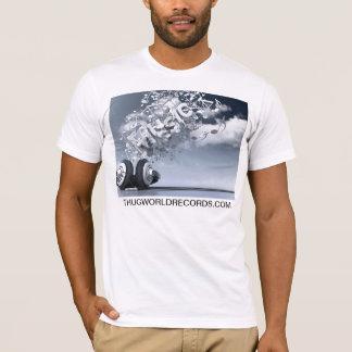 T-shirt la musique de records mondiaux de voyou est