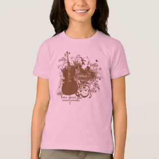 T-shirt La musique d'échouer de mots parle le musicien de