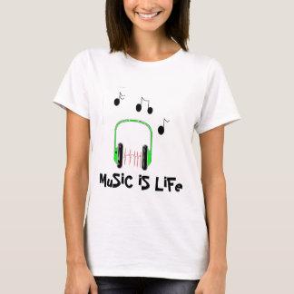 T-shirt La musique est la vie