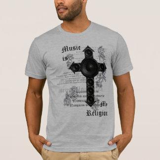 T-shirt La musique est ma religion (le noir)