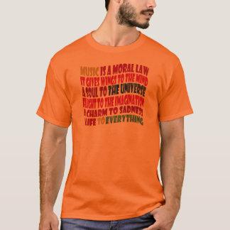 T-shirt La musique est une loi morale