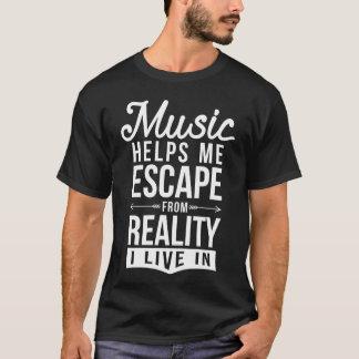 T-shirt la musique m'aide