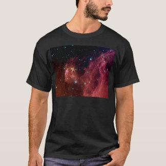 T-shirt La NASA rouge de nuage de ciel de la poussière