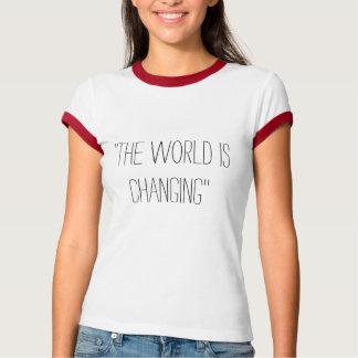 """T-shirt La nation noble """"le monde change"""" la pièce en t"""