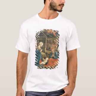 T-shirt La nativité avec des solides solubles. Michael et