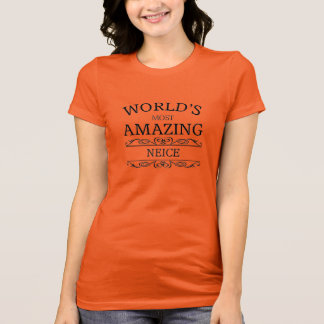 T-shirt La nièce la plus extraordinaire du monde