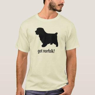 T-shirt La Norfolk Terrier passée