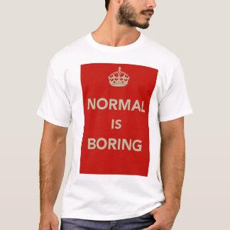 T-shirt La NORMALE ENNUYEUX gardent la conception calme