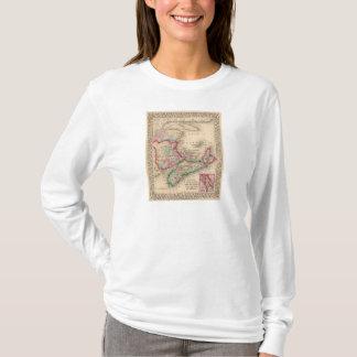 T-shirt La Nouvelle-Écosse, Nouveau Brunswick, carte par