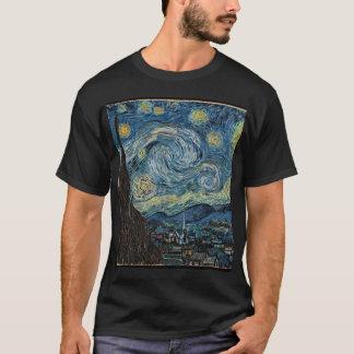 T-shirt la nuit Van Gogh-étoilée éditent