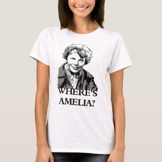 T-shirt Là où est l'aviation Spleeburgen de femme d'Amelia
